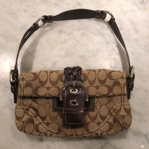 COACH 6280 Braided Signature Handbag Purse
